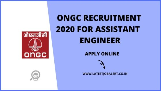 ONGC Recruitment 2020 for Assistant Engineer online form|Apply online