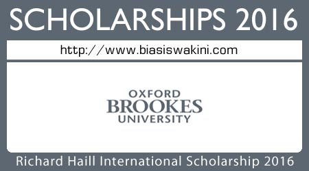 Richard Haill International Scholarship 2016