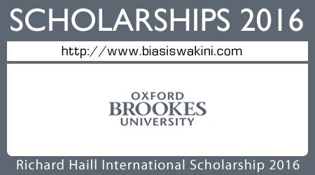 Richard Haill International Scholarship 2016