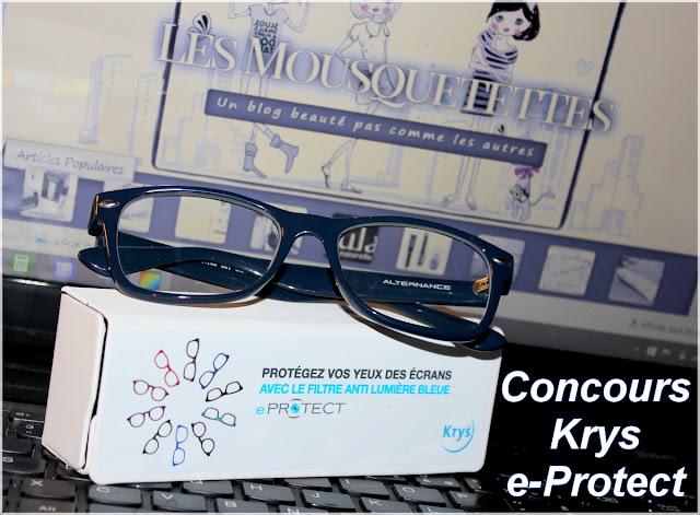 Anniversaire Blog Beauté Mousquetettes !! Concours Opticiens Krys 5 paires de lunettes eProtect à gagner !!!