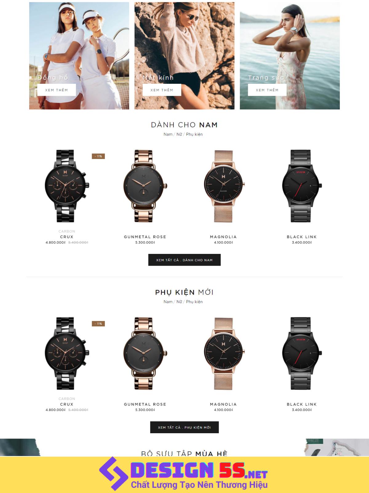 Theme blogspot bán hàng Đồng hồ đeo tay VSM85 - Ảnh 2