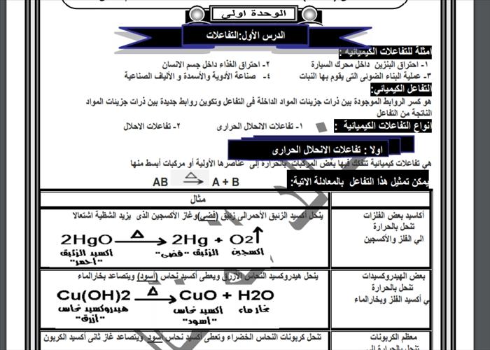 تحميل مذكرات الصف الثالث الاعدادى فى جميع المواد الحكومى واللغات الترم الثانى 2016