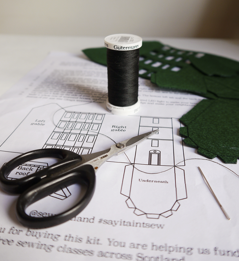 Say It Ain't Sew, sewing kit, crafting, Glasgow tenament sewing kit, Say it ain't Sew Dundee, Iona Barker