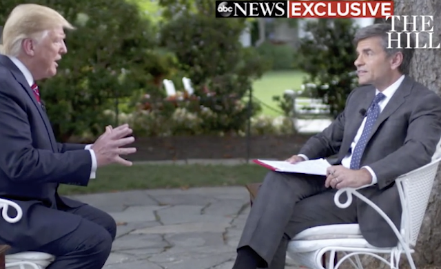 Trump in testy exchange with Stephanopoulos: 'You're being a little wise guy