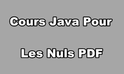 Cours Java Pour Les Nuls PDF