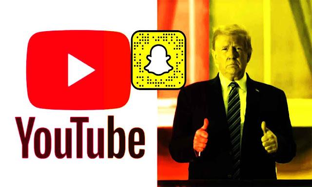 تعليق حسابات ترامب على Snapchat و YouTube