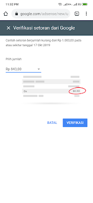 Gajian Google Adsense dari Aplikasi OVO Android