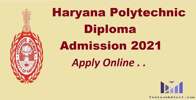 Haryana Polytechnic Online form 2021
