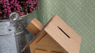 DIY. Cómo hacer una Hucha con Cartón Reciclado