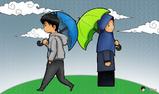 Gambar Kartun Muslim Lucu Berpasangan