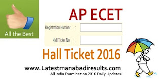 AP ECET Hall Ticket Download, www.apecet Hall Tickets 2016,AP ECET 2016 Admit Card,