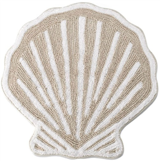 Sea Shell Shaped Bath Rug