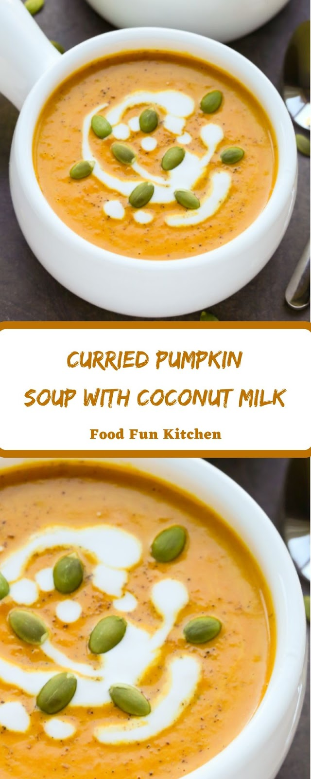 CURRIED PUMPKIN SOUP WITH COCONUT MILK