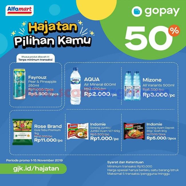 Promo Alfamart GoPay Hajatan 16 - 30 November 2019
