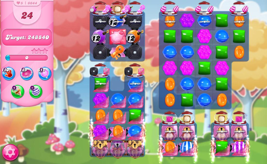 Candy Crush Saga level 6644