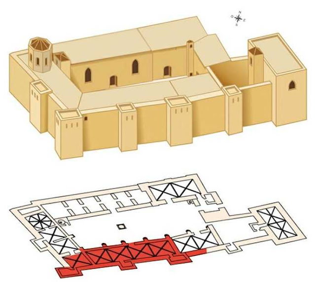 esquema del Castillo del Rey en Lleida