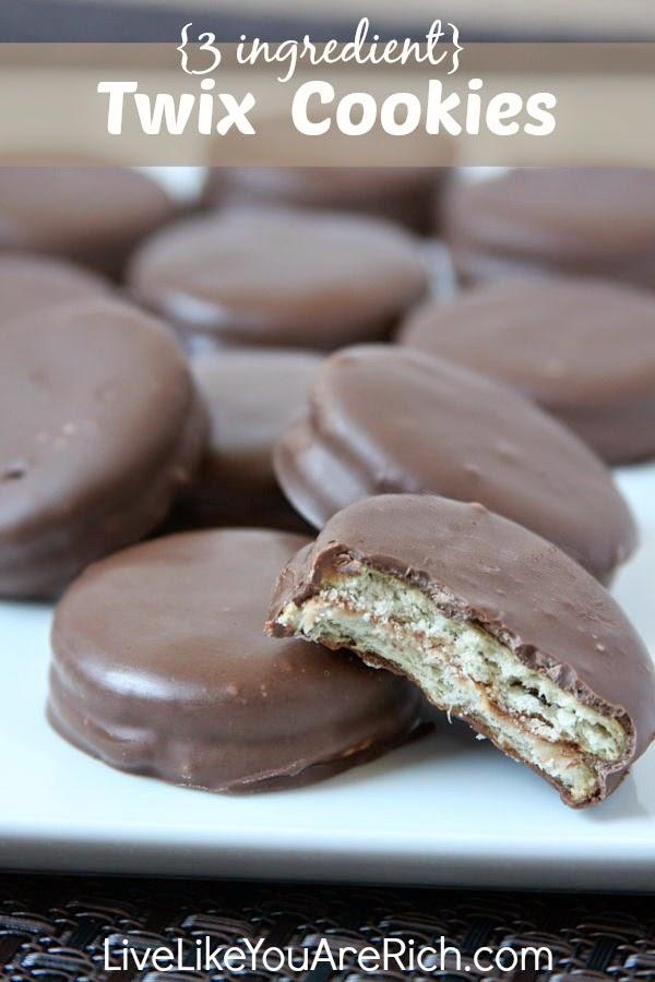 3 Ingredient No-Bake Twix Cookies