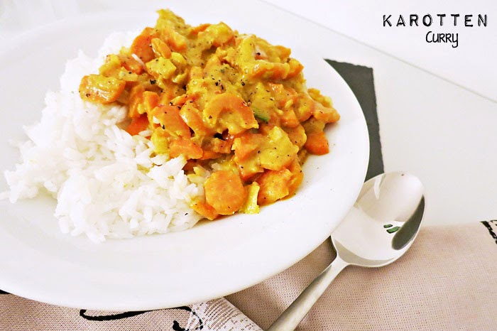 Reis mit Karotten-Curry