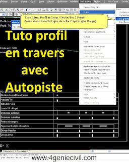 comment créer un profil en travers avec Autopiste, formation Autopiste, tutoriel autopiste pdf, tuto autopiste