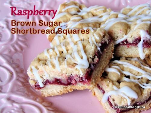 Raspberry Brown Sugar Shortbread Squares