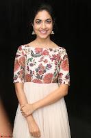 Ritu Varma smiling face Cream Anarkali dress at launch of OPPO New Selfie Camera F3 ~  Exclusive 047.JPG