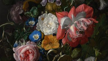 Rosas, Convolvulus, Amapolas y Otras Flores de Primavera