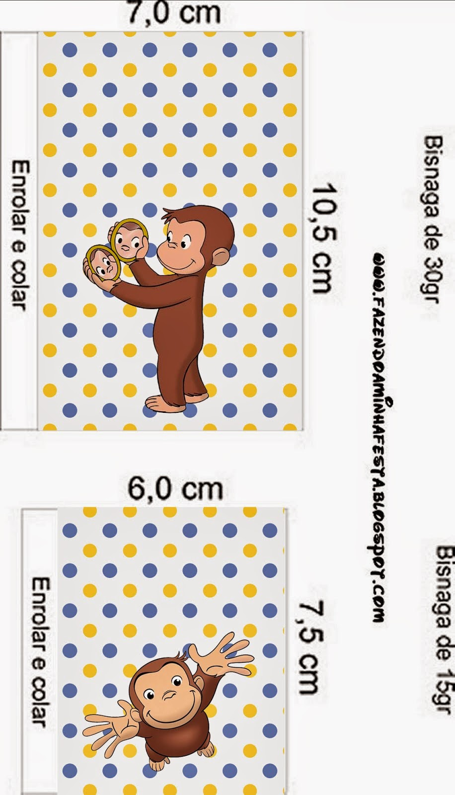 photo about Curious George Printable referred to as Curious George: No cost Printable Sweet Bar Labels. - Oh My