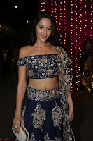 Nora Fatehi in Blue Emroidery Ghagra Choli at Zee Telugu Apsara Awards 2017 08.JPG
