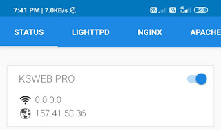 phpMyAdmin in android by ksweb
