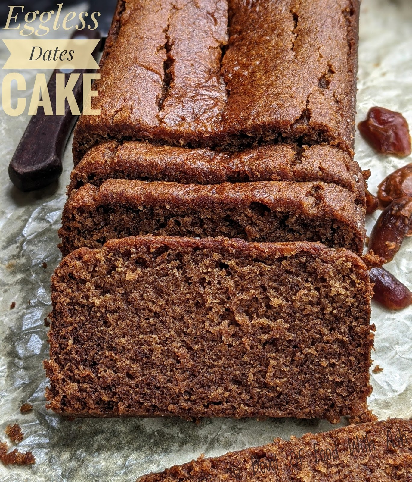 Eggless Dates Cake Recipe | How to make Eggless Dates Cake