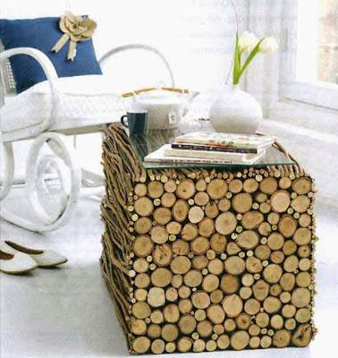 maceta hecha de madera