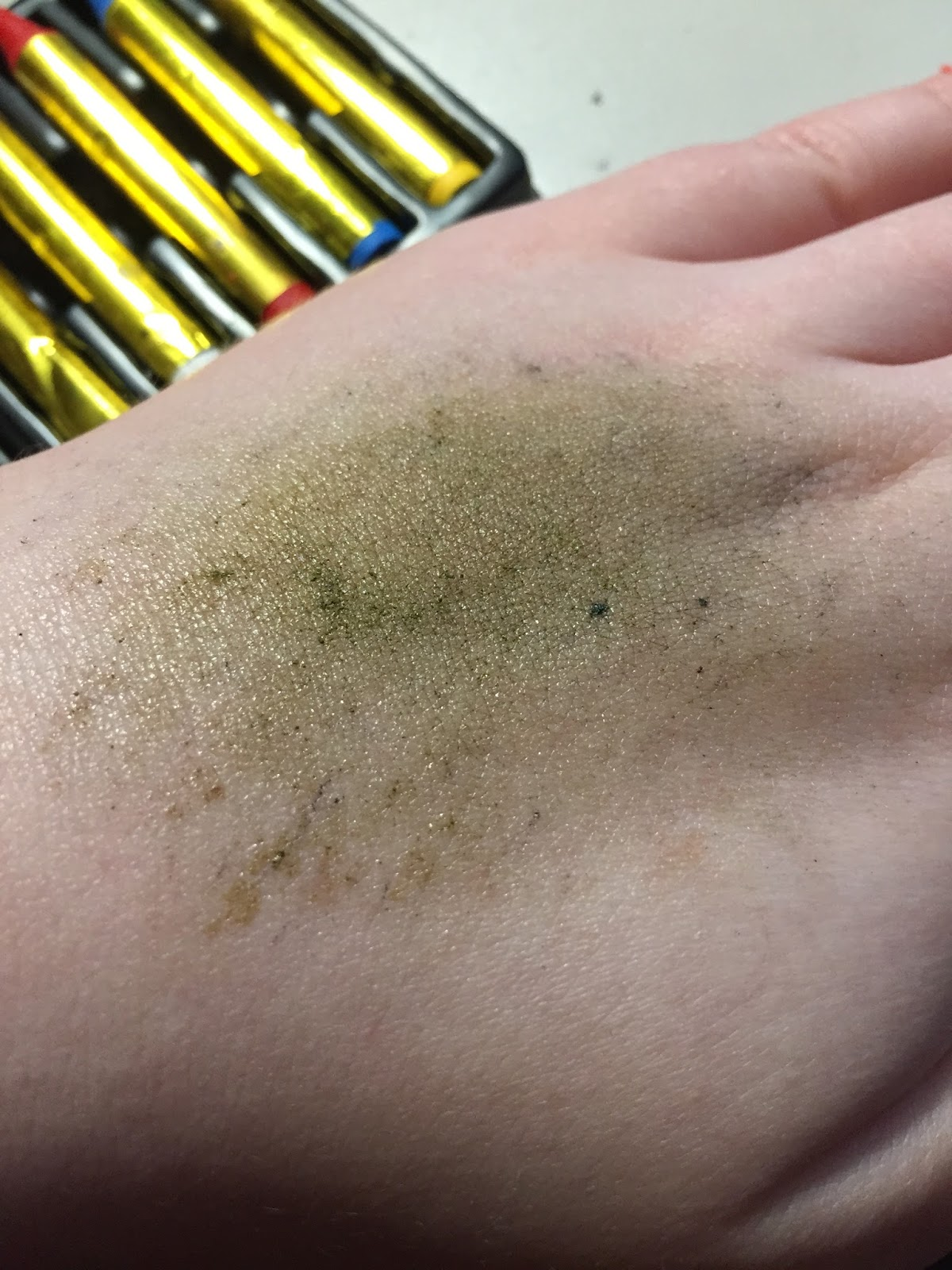 how old is a green bruise