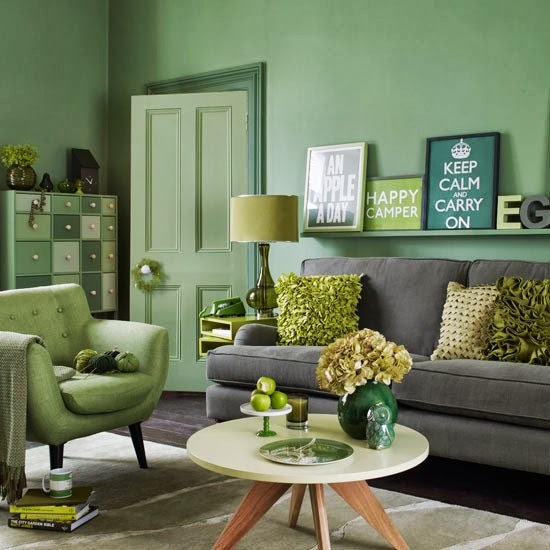 amazing green and emerald living room
