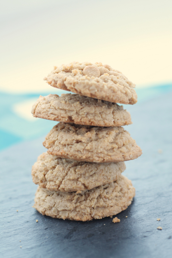Oatmeal Peanut Butter Cookies - so soft and chewy!