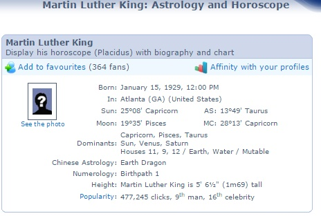 theastrofiend: Martin Luther King Jr  A Model of Capricorn