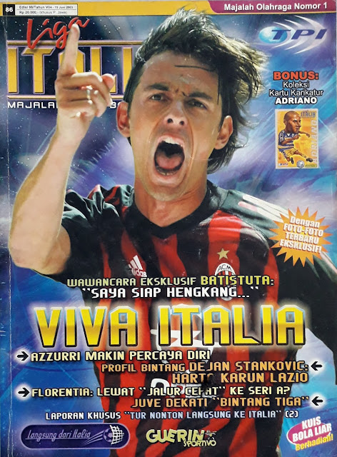 FILIPPO INZAGHI OF AC MILAN ON FOOTBALL MAGAZINE COVER