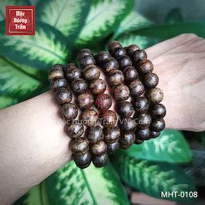 Vòng tay trầm hương indo 108 size 12mm MHT 0108