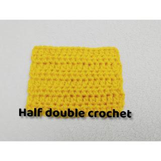 Half-double crochet stitch