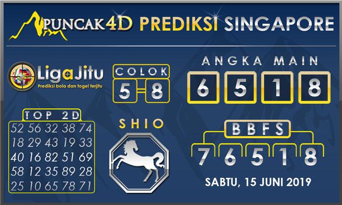 PREDIKSI TOGEL SINGAPORE PUNCAK4D 15 JUNI 2019