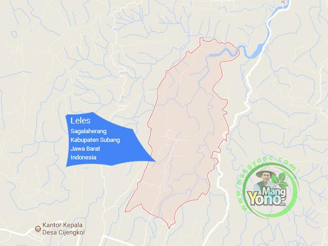 PETA : Desa Leles, Kecamatan Sagalaherang