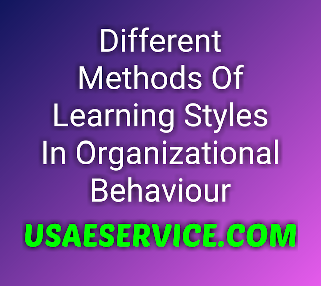Learning  Methods in Organizational Behaviour