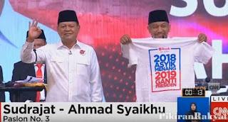 Debat Pilgub Jabar Ricuh Gara-Gara Asyik Kaus #2019GantiPresiden