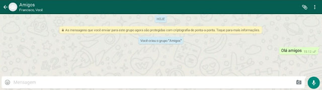 Conversar com contatos no grupo do Zap
