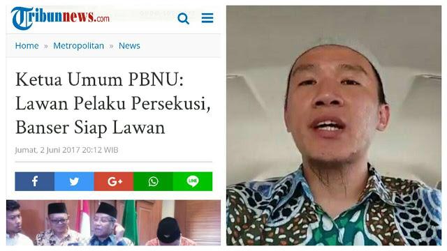 """Dulu Banser """"Lawan Persekusi"""", Sekarang Kok Persekusi Ust Felix Dengan Materei 6000?"""