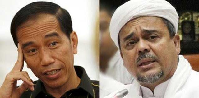 Foto Jokowi dan Habib Rizieq