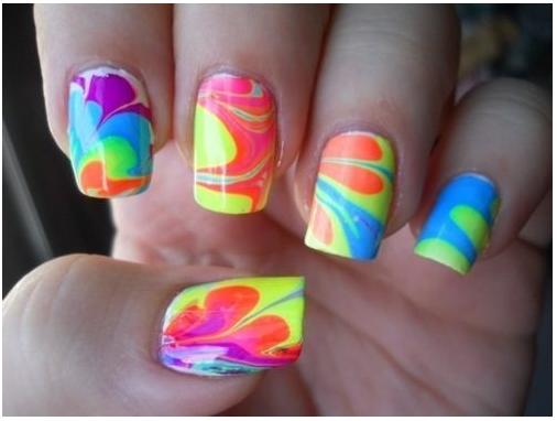 How To Do Marble Nail Art Fashion Beauty Inc