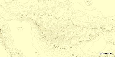 Cerro Viejo - Separación de 50m entre curvas de nivel