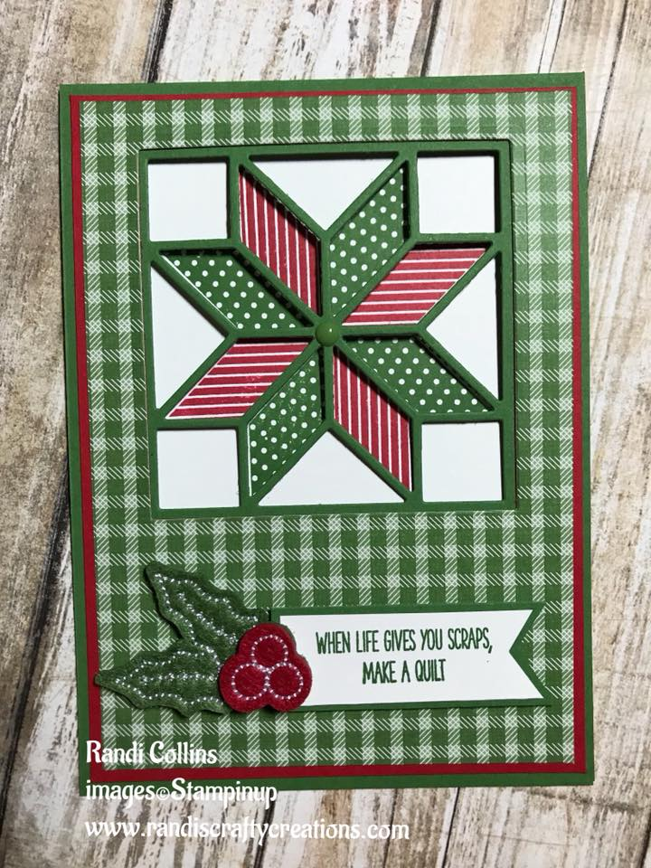 Randi S Crafty Creations My First Quilt Card W Stampin Up Christmas Quilt Stamp Die Set