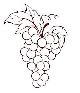 Gambar buah anggur untuk mewarnai