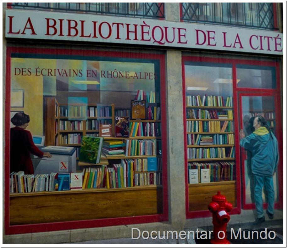 La Bibliothèque de la cité; Fachadas pintadas de Lyon